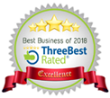 Three Best Rated - Best Business of 2018